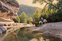 Mark Keathley (American, b. 1963) Bumper to Bumper at the Overpass, 1992 Oil on canvas 40-1/4 x 6