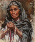 Works on Paper, Harley Brown (American, b. 1939). Milta Ribbon Woman, 1984. Pastel on paper. 17-3/4 x 14-1/2 inches (45.1 x 36.8 cm) (si...