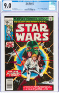 Bronze Age (1970-1979):Superhero, Star Wars #1 (Marvel, 1977) CGC VF/NM 9.0 Off-white to white pages....