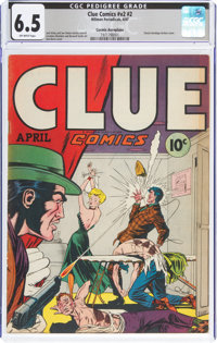 Clue Comics V2#2 Cosmic Aeroplane Pedigree (Hillman Publications, 1947) CGC FN+ 6.5 Off-white pages
