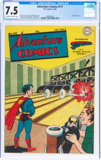 Adventure Comics #111 (DC, 1946) CGC VF- 7.5 Off-white to white pages