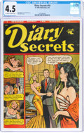 Golden Age (1938-1955):Romance, Diary Secrets #10 (St. John, 1952) CGC VG+ 4.5 Off-white to white pages....