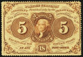 Fractional Currency:First Issue, Fr. 1229 5¢ First Issue Extremely Fine.. ...