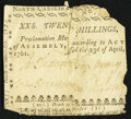Colonial Notes:North Carolina, North Carolina April 23, 1761 20s Very Good-Fine.. ...