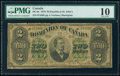Canada Dominion of Canada $2 1.6.1878 DC-9c PMG Very Good 10