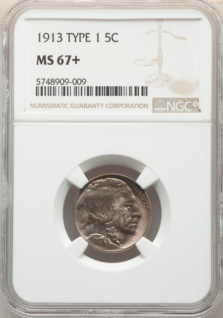 1913 Type One 5C, MS NGC Plus 67 NGC