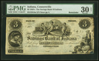 Connersville, IN- Savings Bank of Indiana $3 18__ G4a Remainder PMG Very Fine 30 Net