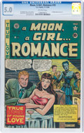 Golden Age (1938-1955):Romance, A Moon, A Girl...Romance #10 (EC, 1949) CGC VG/FN 5.0 Off-white pages....