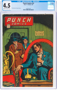 Punch Comics #14 (Chesler, 1945) CGC VG+ 4.5 Cream to off-white pages