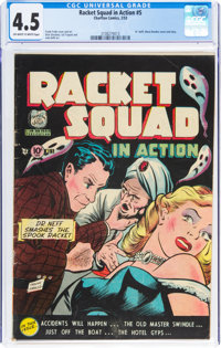 Racket Squad in Action #5 (Charlton, 1953) CGC VG+ 4.5 Off-white to white pages