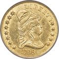 Early Eagles, 1799 $10 Small Obverse Stars, BD-6, R.5, AU53 PCGS....