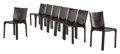 Furniture, Mario Bellini (Italian, b. 1935). Set of Eight Cab Chairs, designed 1976, Cassina. Steel, leather. 32 x 18-1/2 x 15 inch... (Total: 8 Items)