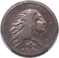 Large Cents, 1793 1C Wreath, Vine and Bars Edge, S-9, B-12, R.2 -- Cleaned -- PCGS Genuine. Fine Details....