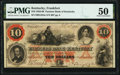 Obsoletes By State:Kentucky, Frankfort, KY- Farmers Bank of Kentucky $10 Oct. 3, 1860 G224a PMG About Uncirculated 50.. ...