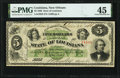 Obsoletes By State:Louisiana, New Orleans, LA- State of Louisiana $5 Dec. 20, 1866 Cr. 25 PMG Choice Extremely Fine 45.. ...