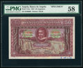 World Currency, Angola Banco De Angola 50 Angolares 1.6.1927 Pick 74As Specimen PMG Choice About Unc 58.. ...