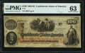 Confederate Notes:1862 Issues, T41 $100 1862 PF-5 Cr. 315 PMG Choice Uncirculated 63.. ...