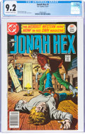 Bronze Age (1970-1979):Western, Jonah Hex #1 (DC, 1977) CGC NM- 9.2 Off-white to white pages....
