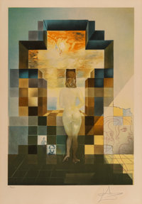 Salvador Dali (1904-1989) Lincoln in Dalivision, 1977 Photolithograph with embossing in colors on Ar