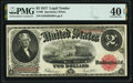 Large Size:Legal Tender Notes, Fr. 60 $2 1917 Legal Tender PMG Extremely Fine 40 EPQ.. ...