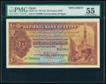 World Currency, Egypt National Bank of Egypt 10 Pounds 2.9.1913 Pick 14s Specimen PMG About Uncirculated 55.. ...