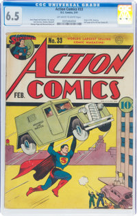 Action Comics #33 (DC, 1941) CGC FN+ 6.5 Off-white to white pages
