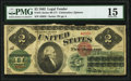 Large Size:Legal Tender Notes, Fr. 41 $2 1862 Legal Tender PMG Choice Fine 15.. ...