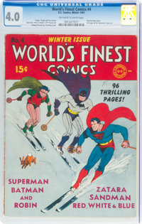 World's Finest Comics #4 (DC, 1941) CGC VG 4.0 Off-white to white pages