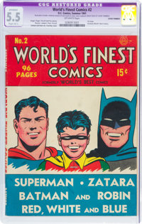 World's Finest Comics #2 (DC, 1941) CGC Apparent FN- 5.5 Slight (B-1) Off-white pages