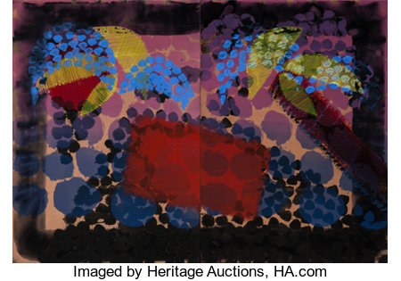 Howard Hodgkin (1932-2017) For Bernard Jacobson, 1979 Lithograph with hand coloring on two sheets of Arches paper 41-...