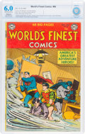 Golden Age (1938-1955):Superhero, World's Finest Comics #66 (DC, 1953) CBCS Restored FN 6.0 Slight/Moderate Off-white to white pages....