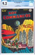 Golden Age (1938-1955):Adventure, Boy Commandos #20 (DC, 1947) CGC NM- 9.2 Cream to off-white pages....