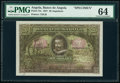 World Currency, Angola Banco De Angola 20 Angolares 1.6.1927 Pick 73s Specimen PMG Choice Uncirculated 64.. ...