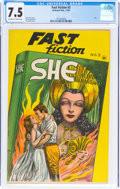 Golden Age (1938-1955):Classics Illustrated, Fast Fiction #3 She (Seaboard Pub., 1949) CGC VF- 7.5 Off-white to white pages....