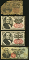 Fractional Currency:Fifth Issue, Fr. 1265 10¢ Fifth Issue Poor;. Fr. 1309 25¢ Fifth Issue Two Examples Very Fine-Extremely Fine or Better;. Fr. 1376 50... (Total: 4 notes)
