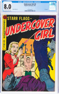 Undercover Girl #5 (Magazine Enterprises, 1952) CGC VF 8.0 Off-white to white pages