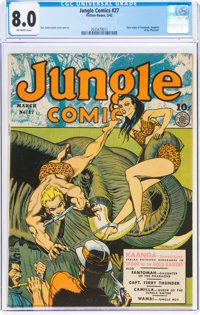 Jungle Comics #27 (Fiction House, 1942) CGC VF 8.0 Off-white pages