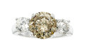 Estate Jewelry:Rings, Fancy Brown Diamond, Diamond, Platinum Ring. ...