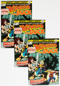 Howard the Duck #1 Group of 3 (Marvel, 1976) Condition: NM.... (Total: 3 Comic Books)