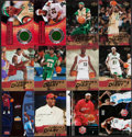 Basketball Cards:Lots, 2003 Fleer and Upper Deck Lebron James Rookie Collection (20) With Game Floor. ...