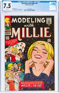 Modeling with Millie #45 (Marvel, 1966) CGC VF- 7.5 White pages
