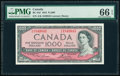 World Currency, Canada Bank of Canada $1000 1954 BC-44d PMG Gem Uncirculated 66 EPQ.. ...