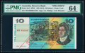 World Currency, Australia Reserve Bank 10 Dollars ND (1974) Pick 45s1 SP19 Specimen PMG Choice Uncirculated 64.. ...