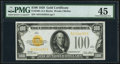 Small Size:Gold Certificates, Fr. 2405 $100 1928 Gold Certificate. PMG Choice Extremely Fine 45.. ...