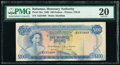 World Currency, Bahamas Monetary Authority 100 Dollars 1968 Pick 33a PMG Very Fine 20.. ...