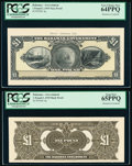 World Currency, Bahamas Bahamas Government 1 Pound 1919 Pick 4p Front and Back Proofs PCGS Very Choice New 64PPQ; Gem New 65PPQ.. ... (Total: 2 notes)