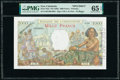 New Caledonia Banque de l'Indochine, Noumea 1000 Francs ND (1963) Pick 43ds Specimen PMG Gem Uncirculated 65 EPQ<...