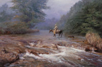 James Robinson (American, 1944-2015) Morning Mist Oil on canvas 24 x 36 inches (61.0 x 91.4 cm)