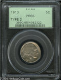 Proof Buffalo Nickels: , 1913 5C Type Two PR65 PCGS. This is a carbonless proof ...