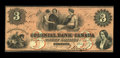 Canadian Currency: , Toronto, ON- Colonial Bank of Canada $3 May 4, 1859 Ch.130-10-04-06. ...
